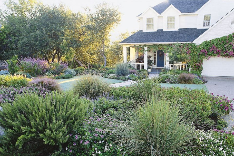 Beautiful  front garden design ideas no grass